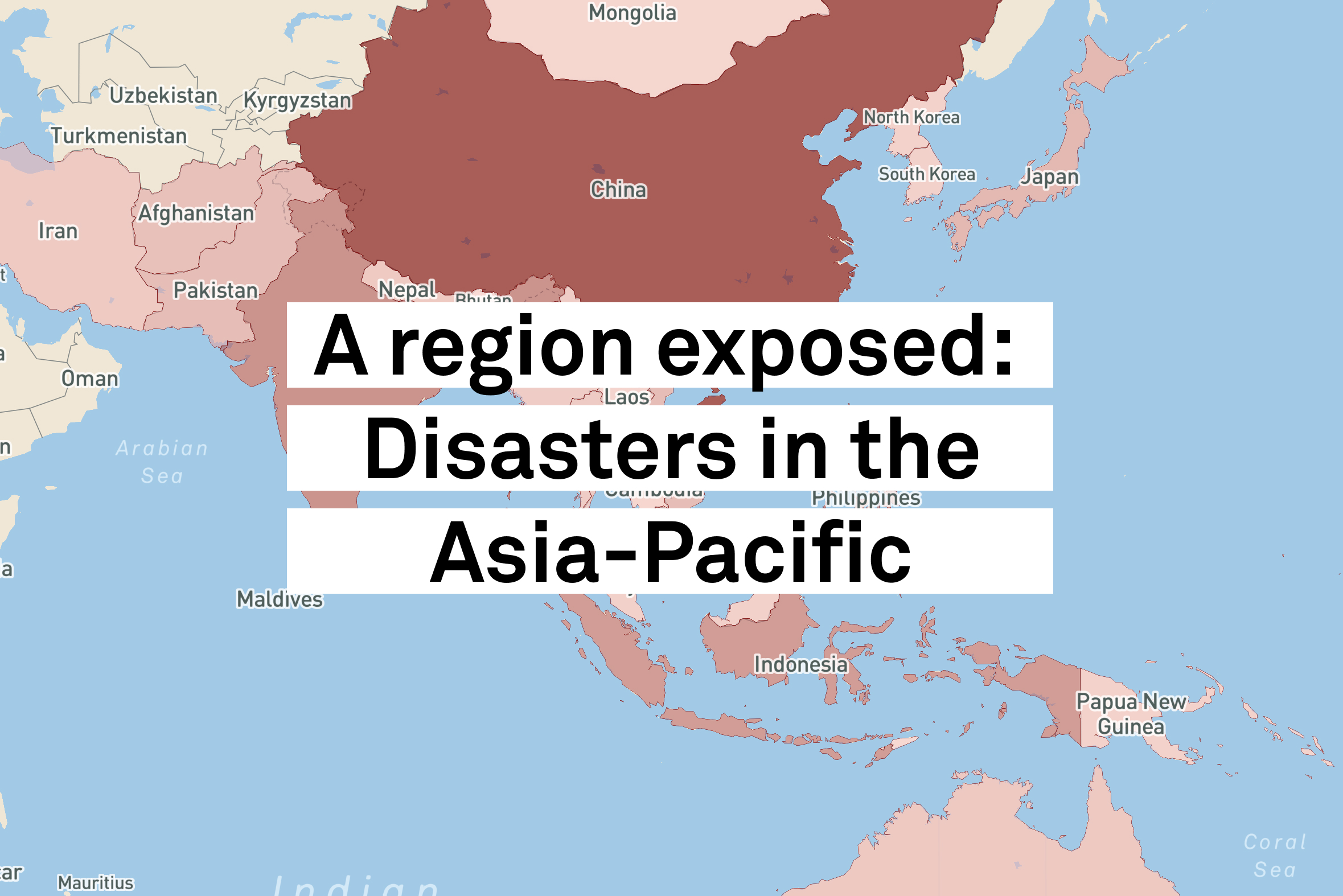 A region exposed: Disasters in the Asia-Pacific