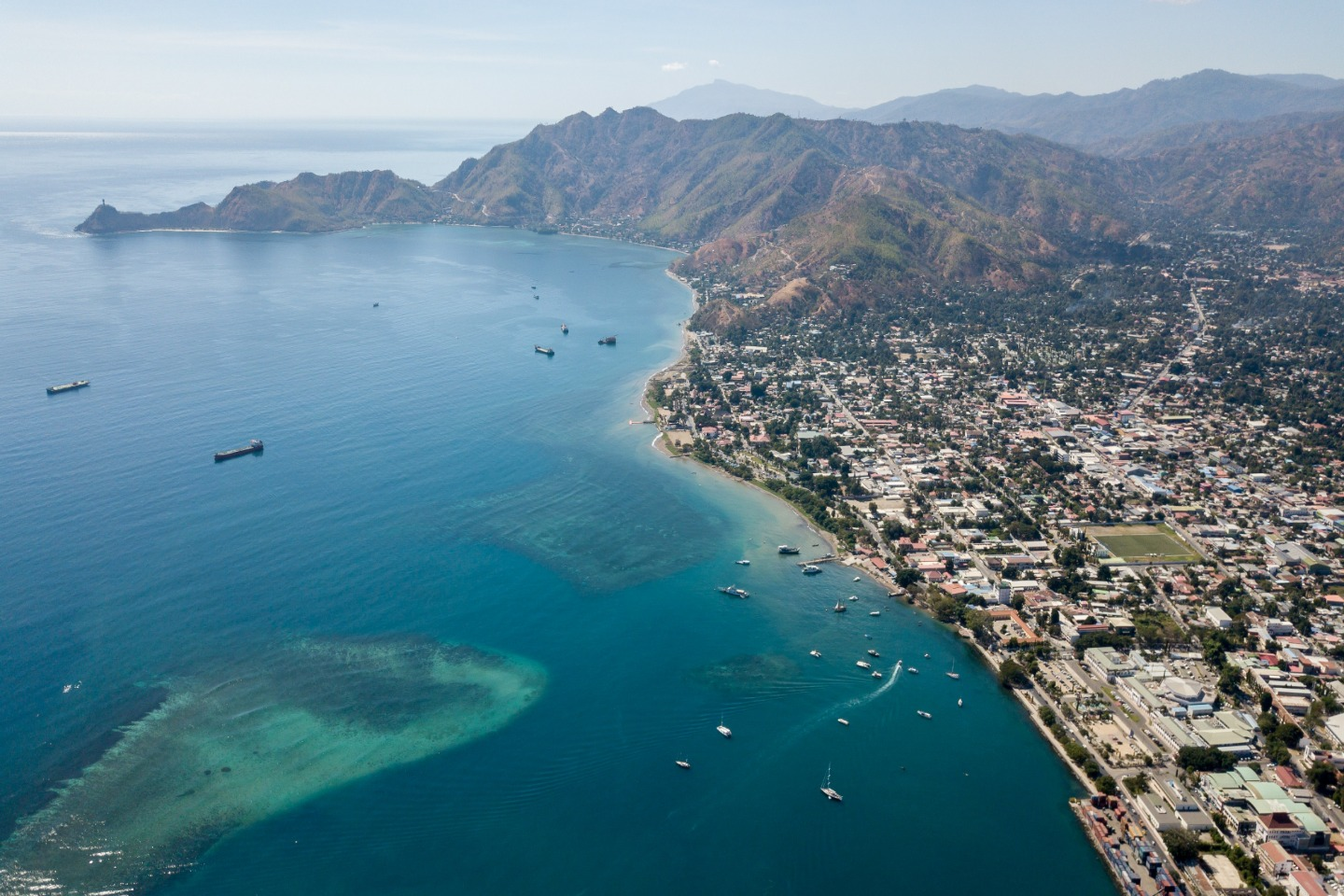 Aerial view of East Timor