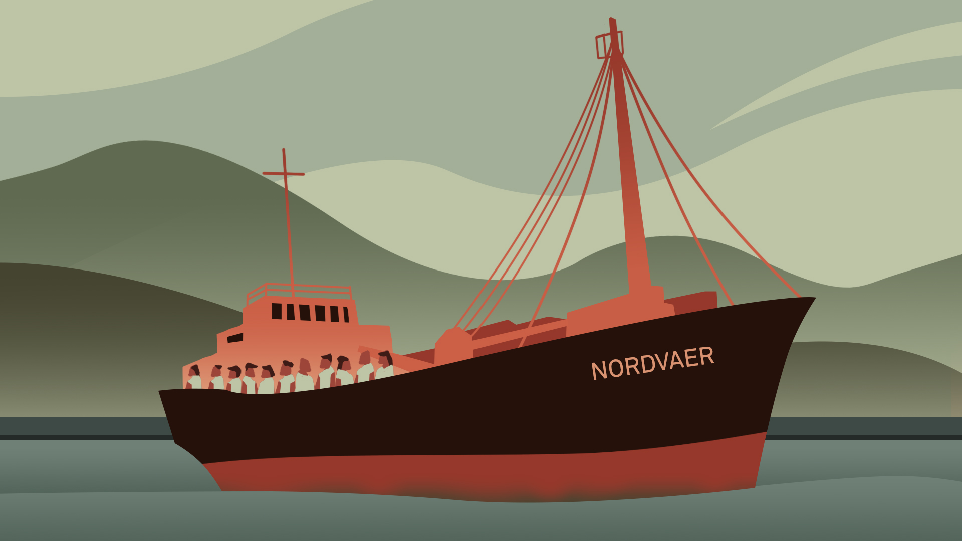 The Nordvaer ship that the Chagossians (from Chagos Islands) were transported in.