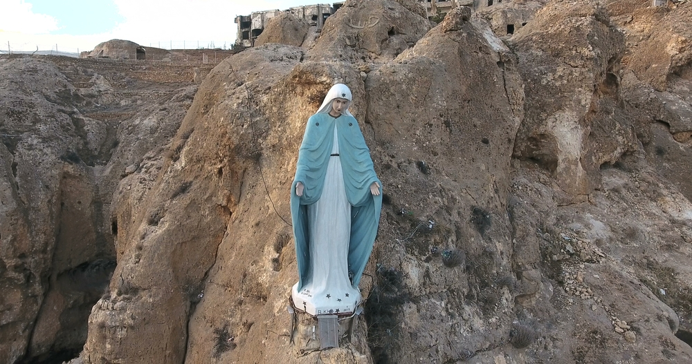A statue of Our Lady Mary, or Seidatna Maryam in Arabic, in Syria.