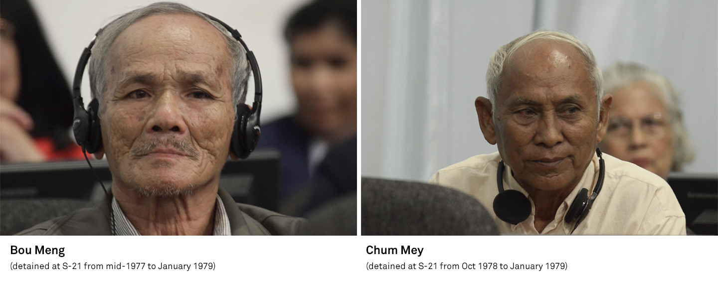 Bou Meng and Chum Mey attending the hearings at the Khmer Rouge Tribunal on 3 February 2012. They were both civil parties for a case against Kaing Guek Eav, aka Duch.