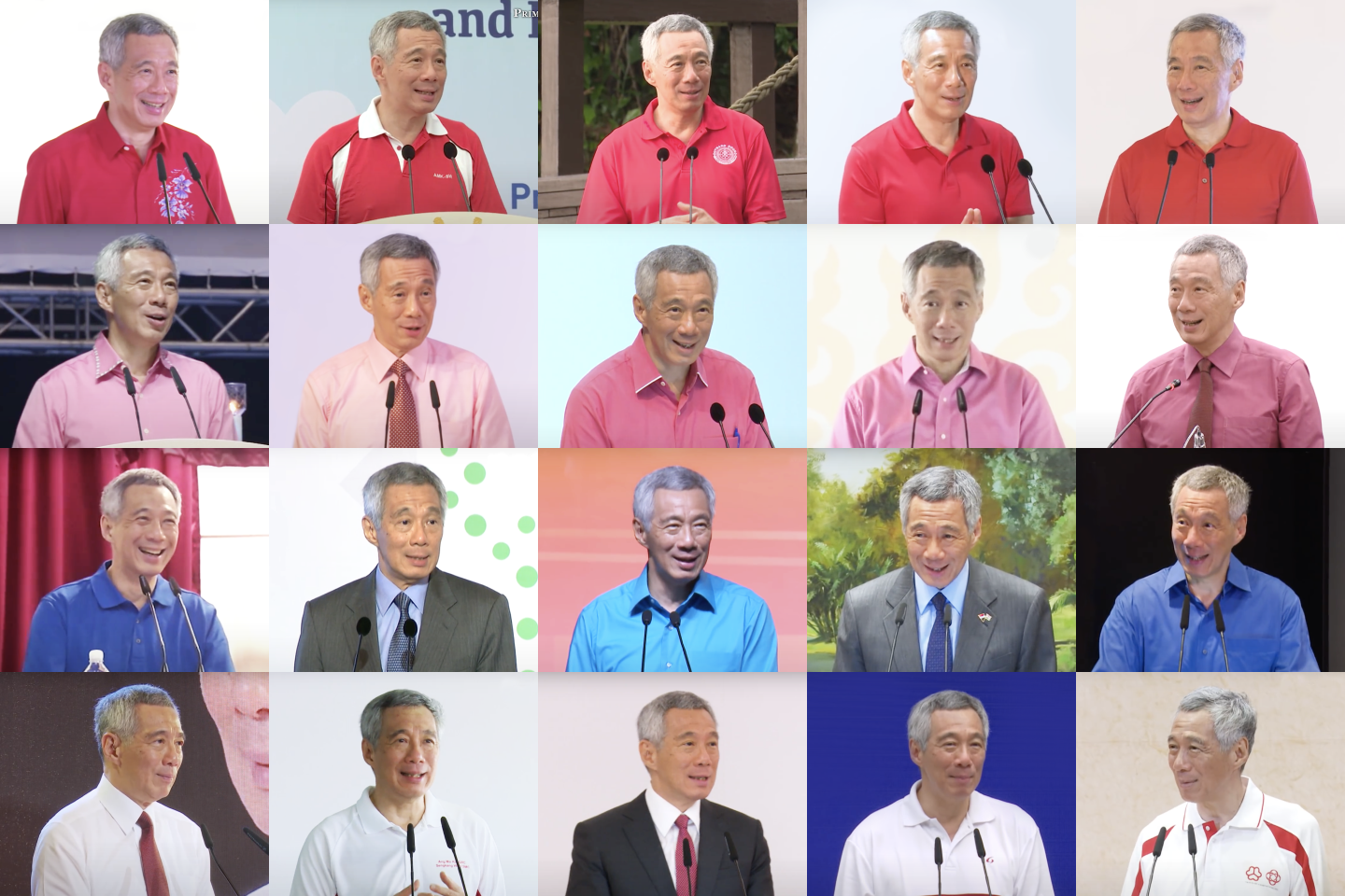 All the shades of Lee Hsien Loong