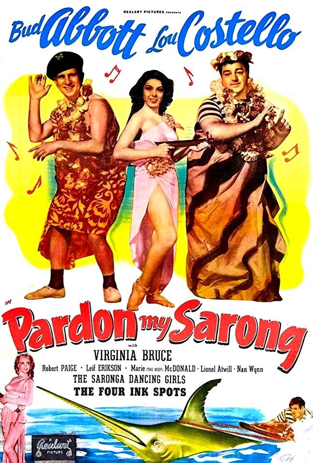 Movie poster for pardon my sarong