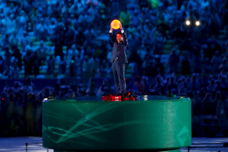 shinzo abe as mario in rio 2016 olympics