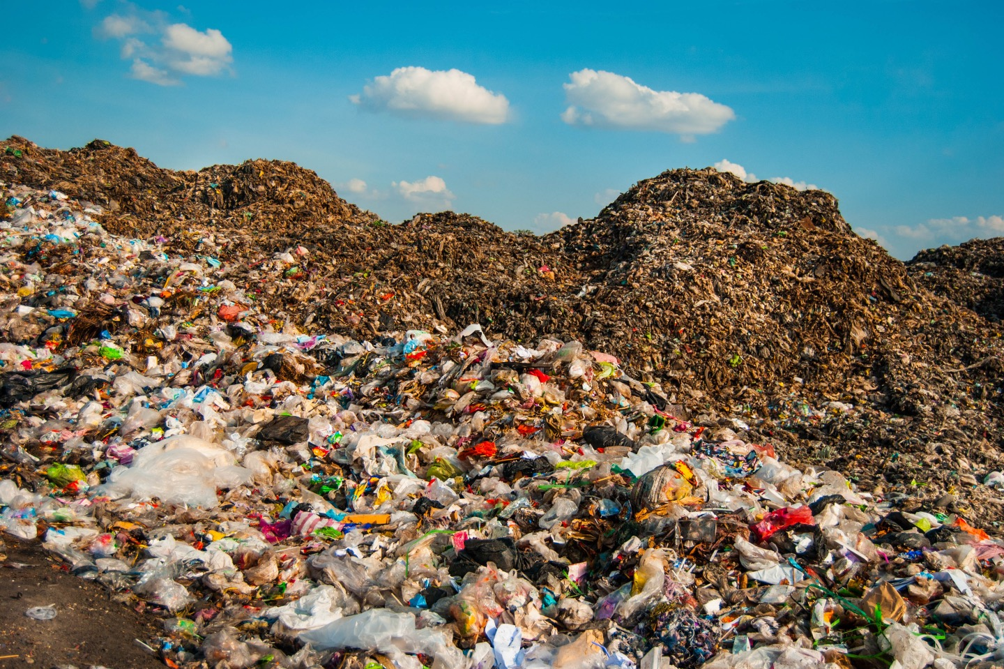 Open dump in Southeast Asia, showing how bad the waste situation is.